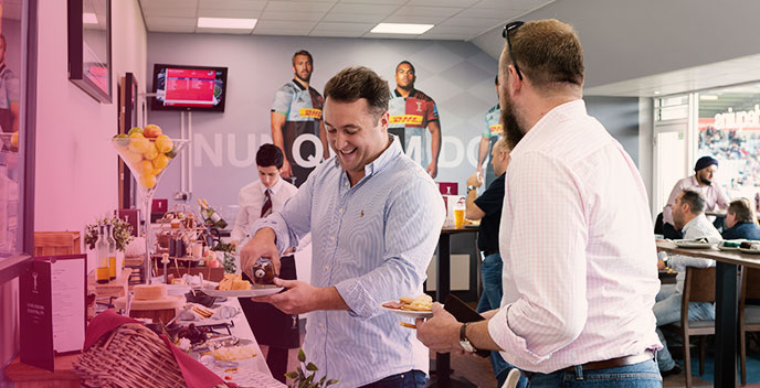 Two spaces in the Clubhouse for Quins v Northampton Saints (17th April)